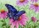 Бабочка. Набор для вышивания бисер-нитки 28х34 см